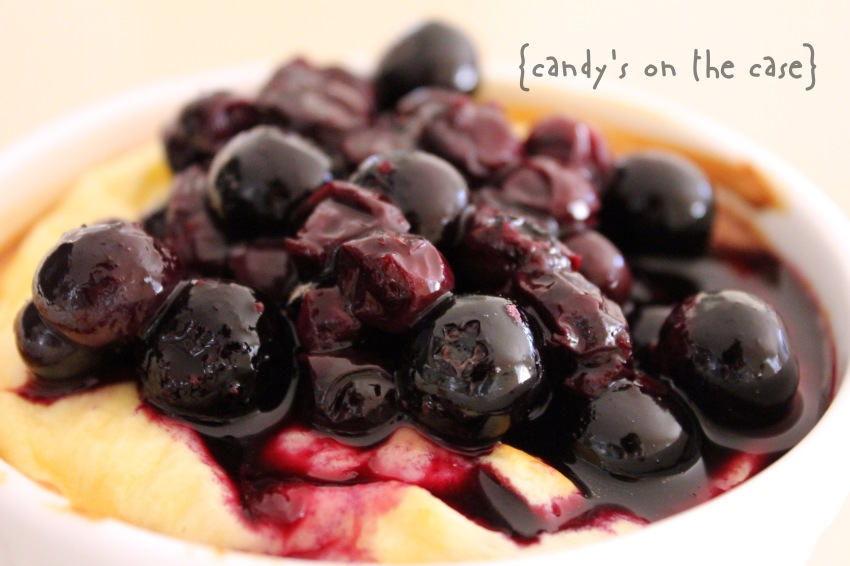 Baked Ricotta w Blueberries