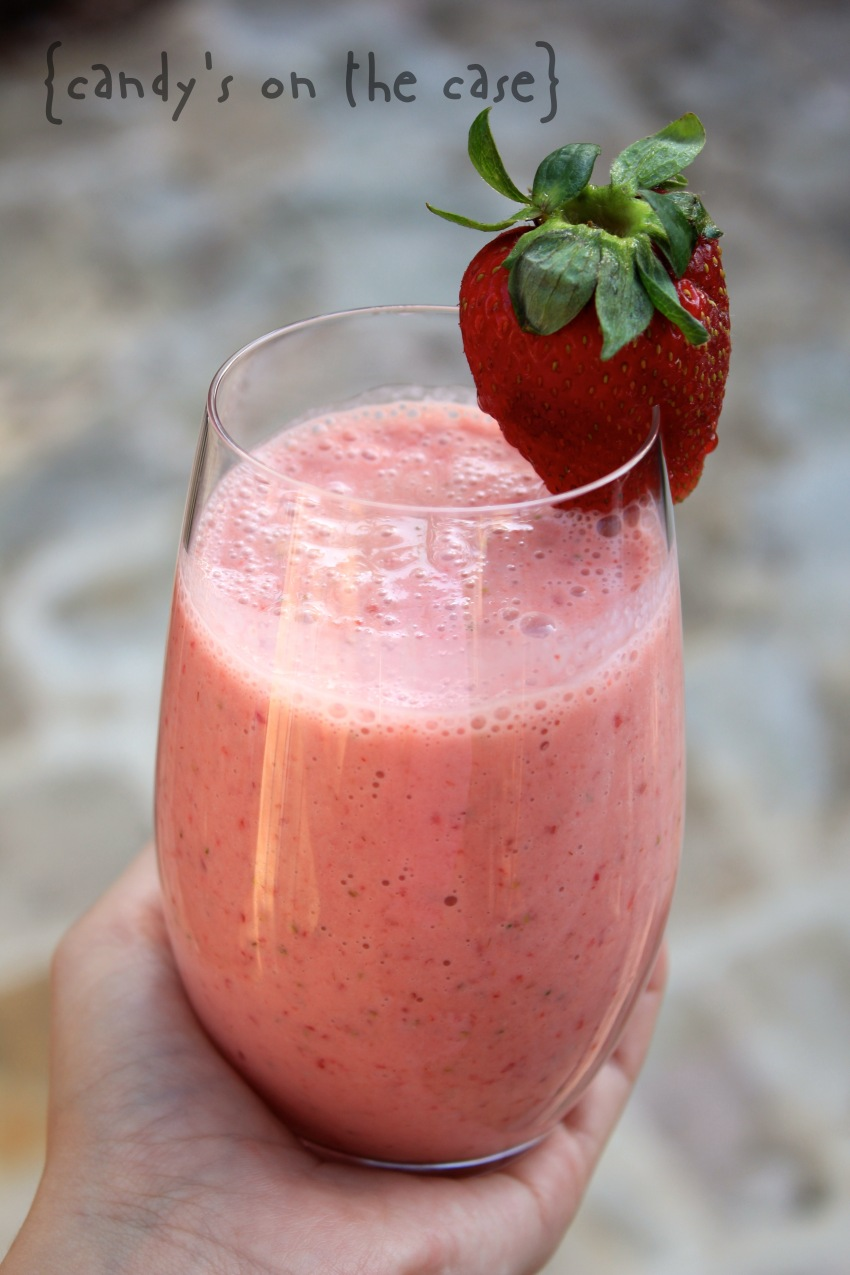 Peach & Strawberry Breakfast Smoothie